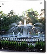 Savannah Georgia Forsyth Park Fountain Acrylic Print