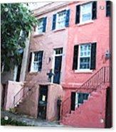 Savannah Georgia Shades Of Pink Acrylic Print