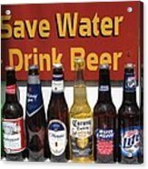 Save Water Drink Beer Acrylic Print