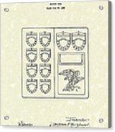 Savings Book 1926 Patent Art Acrylic Print