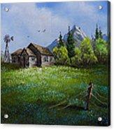 Sawtooth Mountain Homestead Acrylic Print