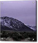 Sawtooth Mountain In December Acrylic Print
