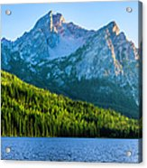 Sawtooth Mountains And Stanley Lake Acrylic Print
