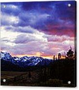 Sawtooth Sunset Panorama Acrylic Print