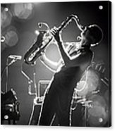 Sax In Black Acrylic Print