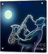 Sax-o-moon Acrylic Print