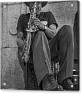 Sax Player In Chicago  Acrylic Print