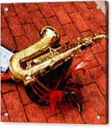 Saxophone Before The Parade Acrylic Print