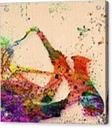 Saxophone  Acrylic Print by Mark Ashkenazi