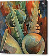 Saxophones And Bass Acrylic Print