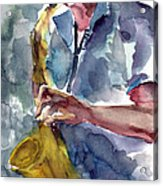 Saxophonist Acrylic Print