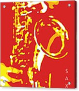 Saxy Red Poster Acrylic Print
