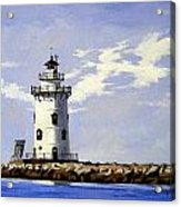 Saybrook Breakwater Lighthouse Old Saybrook Connecticut Acrylic Print