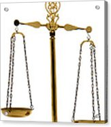 Scale Of Justice Acrylic Print by Olivier Le Queinec