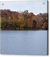 Scales Lake In Autumn Acrylic Print by Sandy Keeton