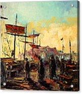 Scarborough Harbour Loading Acrylic Print