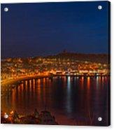 Scarborough Night Lights At Sunrise Acrylic Print