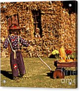 Scarecrows Play Too Acrylic Print