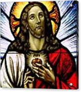 Scared Heart Of Jesus Acrylic Print