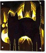 Scaredy Cat Acrylic Print