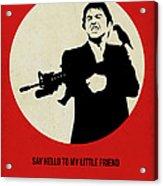 Scarface Poster Acrylic Print by Naxart Studio
