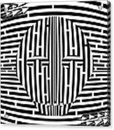 Scary Hockey Mask Maze  Acrylic Print