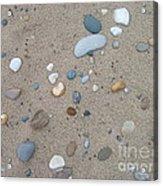 Scattered Pebbles Acrylic Print by Margaret McDermott