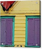 Colorful Doors In Antigua Acrylic Print