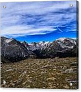 Scene From The Rocky Mountains National Park  Acrylic Print