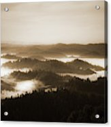 Scenery With Silhouettes Acrylic Print