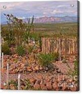 Scenic Boothill Cemetery In Tombstone Arizona Acrylic Print