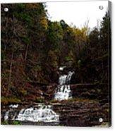 Scenic Kent Falls Acrylic Print by Stephen Melcher