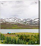 Scenic Landscape In Northern Iceland. Acrylic Print