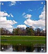 Scenic Park Lake In Spring Time Acrylic Print