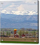 Scenic View Looking Over Anderson Farms Up To Rockies Acrylic Print
