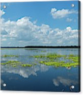 Scenic View Of A Lake Against Cloudy Acrylic Print