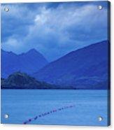 Scenic View Of A Lake At Dusk, Lake Acrylic Print