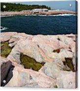 Scenic View Of Exposed Bedrock Acrylic Print