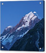 Scenic View Of Mountain At Dusk Acrylic Print
