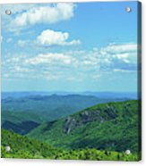 Scenic View Of Mountain Range, Blue Acrylic Print