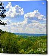 Scenic View Of So Mo Ozarks - Digital Paint Acrylic Print