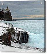 Scenic Winter Lighthouse Acrylic Print