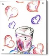 Scented Candle With Love Acrylic Print