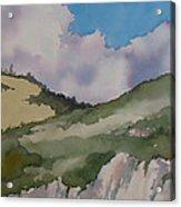 Shell Beach Cliffs Acrylic Print