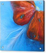 Schmetterlingsblume Acrylic Print by Karen  Kreuzer