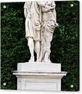 Schonbrunn Palace In Vienna Austria - Garden Statue Detail Acrylic Print