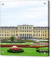 Schonbrunn Palace In Vienna Austria Acrylic Print