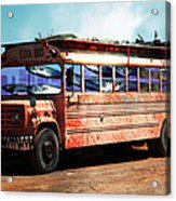 School Bus 5d24927 Acrylic Print by Wingsdomain Art and Photography