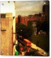 School Bus - New York City Street Scene Acrylic Print