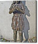 School Girl Sculpture In Saint John's-nl Acrylic Print
